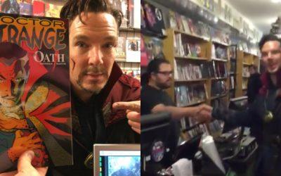 Vídeo: Así fue Benedict Cumberbatch a una tienda de cómics vestido de Doctor Extraño